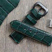 Ремешок из кожи крокодила для часов