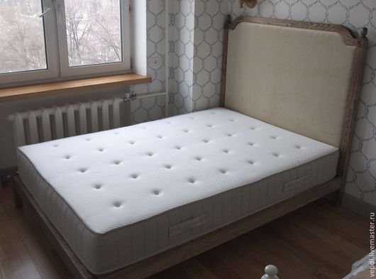 Мебель ручной работы. Ярмарка Мастеров - ручная работа. Купить Двуспальная кровать. Handmade. Хаки, резьба по дереву