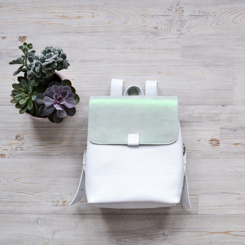 Кожаный рюкзак Banana белый, Рюкзаки, Москва,  Фото №1
