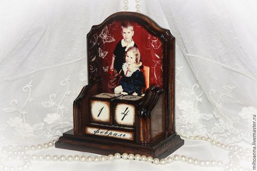 Персональные подарки ручной работы. Ярмарка Мастеров - ручная работа. Купить Вечный календарь с вашим фото. Handmade. с любовью, винтаж