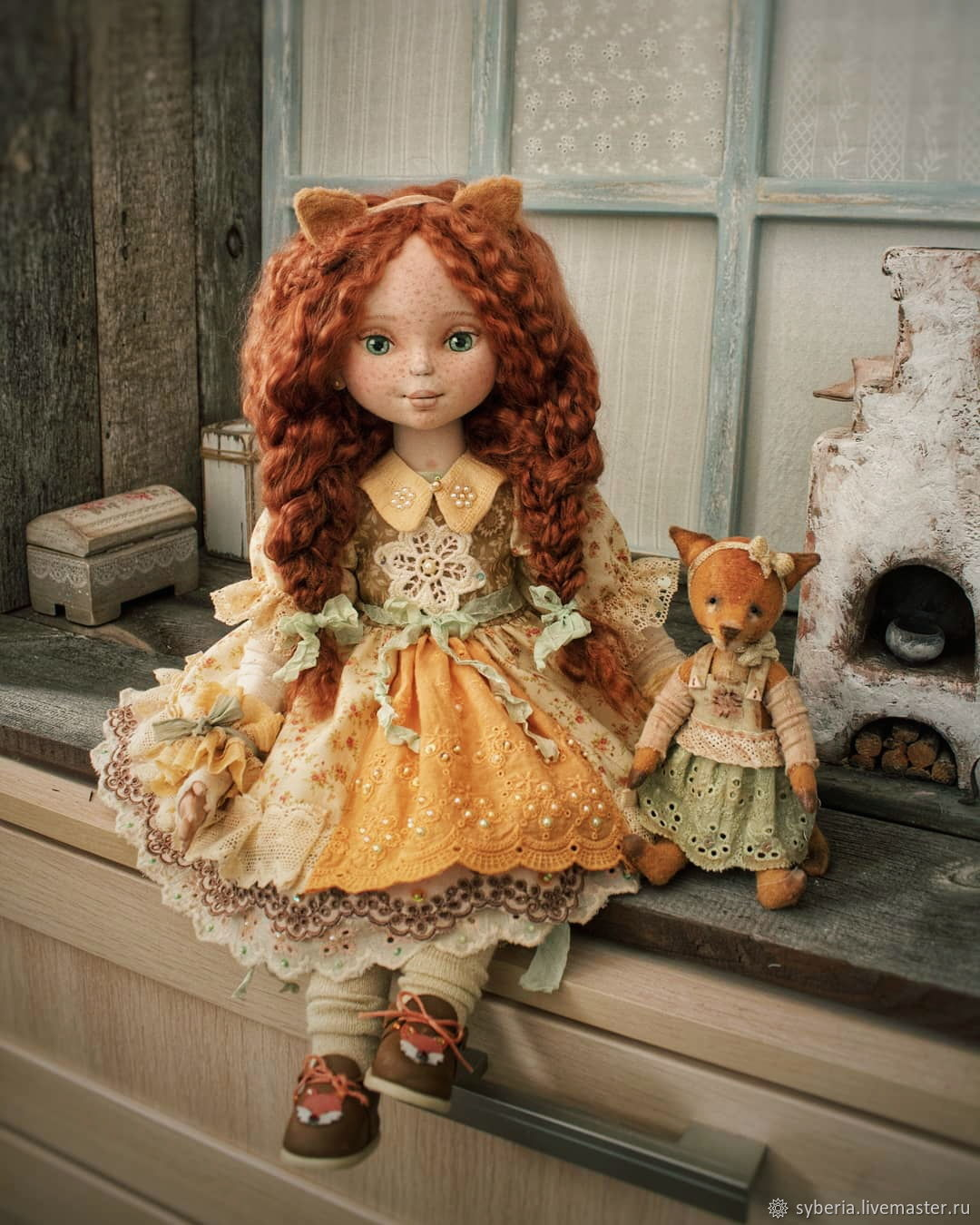 Lizaveta and got into. Author's textile doll collectible, Dolls, Kupavna,  Фото №1