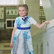 Работы для детей, ручной работы. Ярмарка Мастеров - ручная работа Летнее платье-сарафан и футболка для девочки  Ассоль. Handmade.