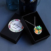 Украшения handmade. Livemaster - original item The pendant is natural shell with corals, 2.5h2.3 cm. Handmade.