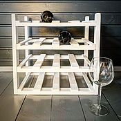 Для дома и интерьера handmade. Livemaster - original item Shelf for wine for 16 bottles in white. Handmade.