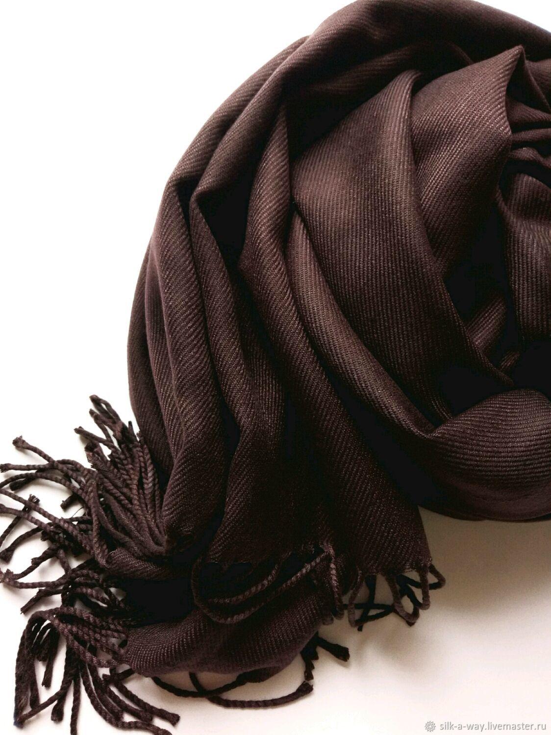 Палантин коричневый шоколадный, Палантины, Москва,  Фото №1