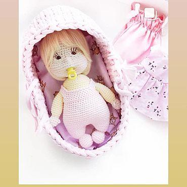 Куклы и игрушки ручной работы. Ярмарка Мастеров - ручная работа Игрушки: Пупс в люльке. Handmade.