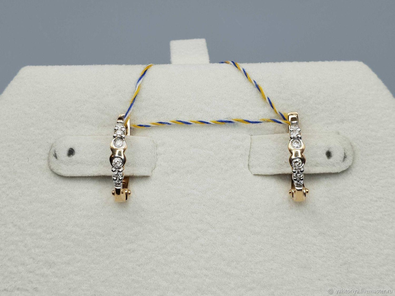 Gold diamond earrings 0,201 ct, Earrings, Moscow,  Фото №1