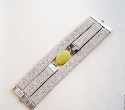 Браслеты ручной работы. Ярмарка Мастеров - ручная работа. Купить Браслет с нефритом Серо-желтый Рассвет в городе. Handmade.