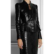 Одежда handmade. Livemaster - original item Set jacket skirt made of genuine Python leather. Handmade.