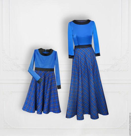 """Платья ручной работы. Ярмарка Мастеров - ручная работа. Купить Комплект платьев  """"Family Look"""". Handmade. Разноцветный, платье летнее"""