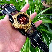 Ламповые стимпанк часы