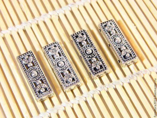 Для украшений ручной работы. Ярмарка Мастеров - ручная работа. Купить Разделитель для бусины на 3-нити, Тибетское серебро, сборка украшенийе. Handmade.