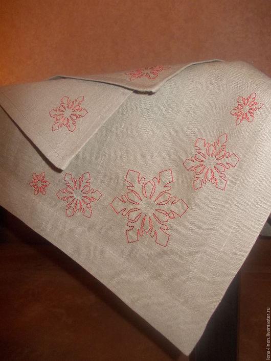 Текстиль, ковры ручной работы. Ярмарка Мастеров - ручная работа. Купить Скатерть и салфетки  с вышивкой. Handmade. Столовый текстиль
