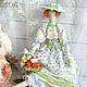 Куклы Тильды ручной работы. Ярмарка Мастеров - ручная работа. Купить Флора - кукла в стиле Тильда. Handmade. Голубой