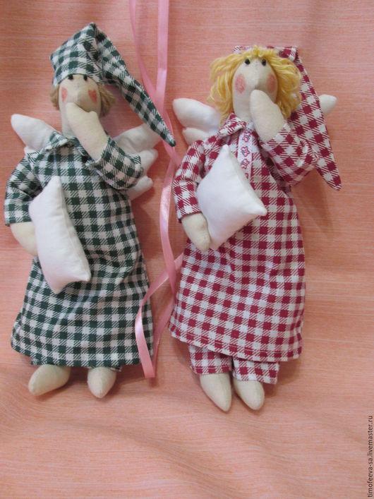 Куклы Тильды ручной работы. Ярмарка Мастеров - ручная работа. Купить сонные ангелы друзья. Handmade. Комбинированный, детская комната