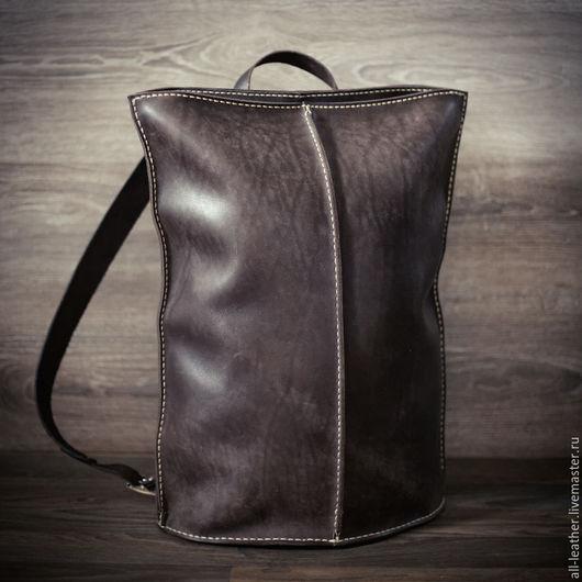 Рюкзаки ручной работы. Ярмарка Мастеров - ручная работа. Купить Мужской рюкзак из натуральной кожи. Handmade. Коричневый, рюкзак городской