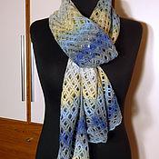 Аксессуары ручной работы. Ярмарка Мастеров - ручная работа Разноцветный ажурный шарф-сетка. Handmade.