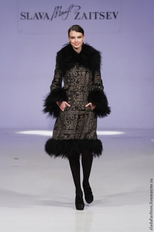 """Верхняя одежда ручной работы. Ярмарка Мастеров - ручная работа. Купить Зимнее пальто """"Черная Королева"""". Handmade. Черный"""