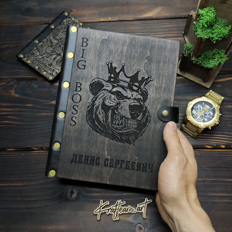 Блокнот для мужчины ( подарок для шефа BIG BOSS), Блокноты, Смоленск,  Фото №1