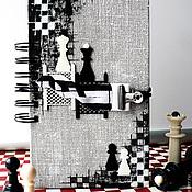 Канцелярские товары ручной работы. Ярмарка Мастеров - ручная работа Шахматный блокнот. Handmade.
