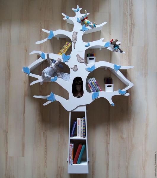 Детская ручной работы. Ярмарка Мастеров - ручная работа. Купить Белое дерево-стеллаж для детской комнаты 7. Handmade. Белый