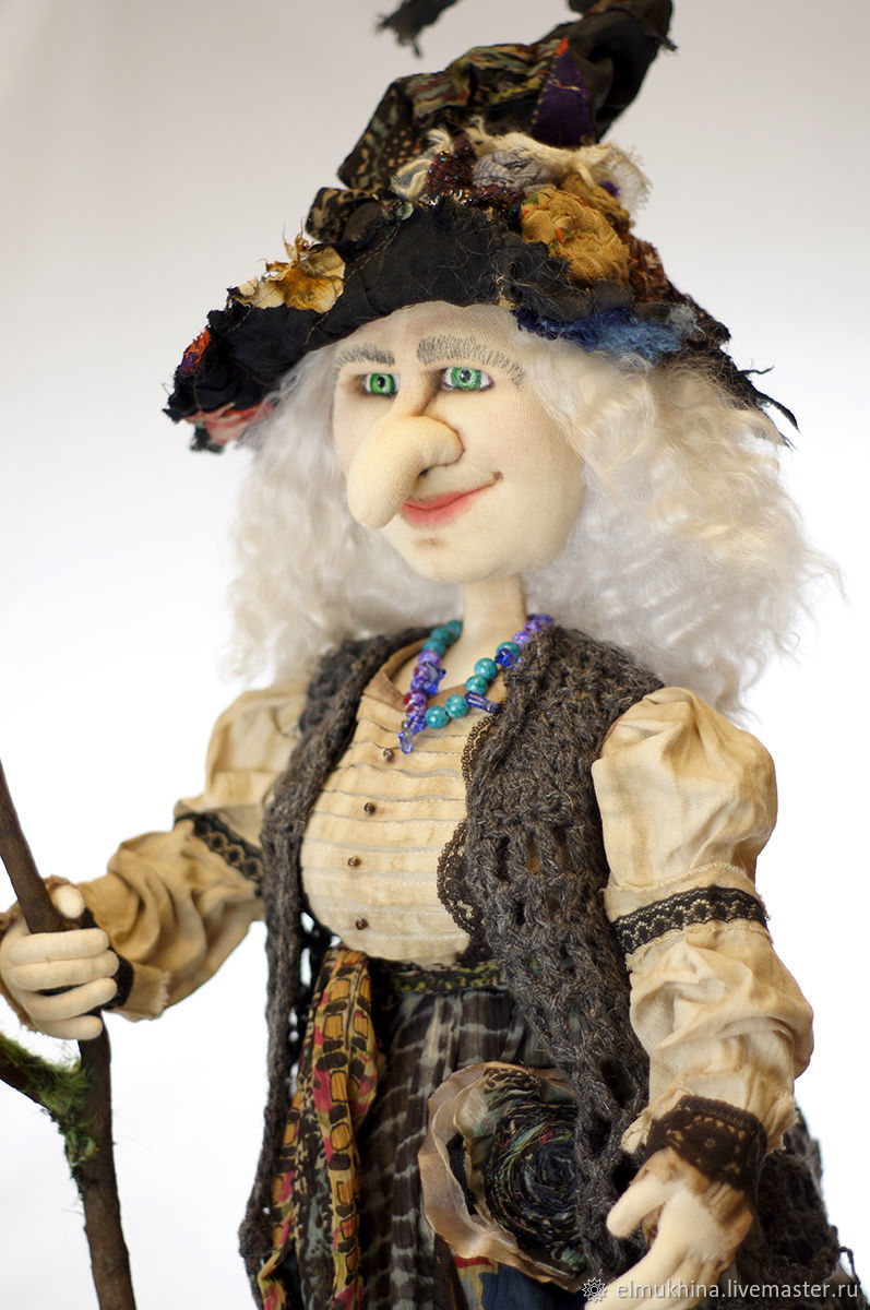 Doll Baba Yaga. witch, Stuffed Toys, Moscow,  Фото №1
