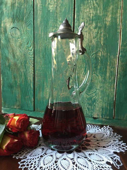 Винтажная посуда. Ярмарка Мастеров - ручная работа. Купить Антикварный 120-летний графин для вина. Handmade. Белый, декантер, антиквариат