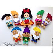 Куклы и игрушки ручной работы. Ярмарка Мастеров - ручная работа Белоснежка и семь гномов. Handmade.