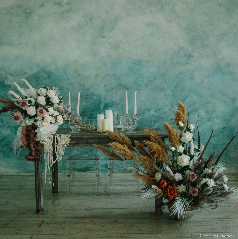 Декор стола молодожёнов, Цветы, Москва,  Фото №1
