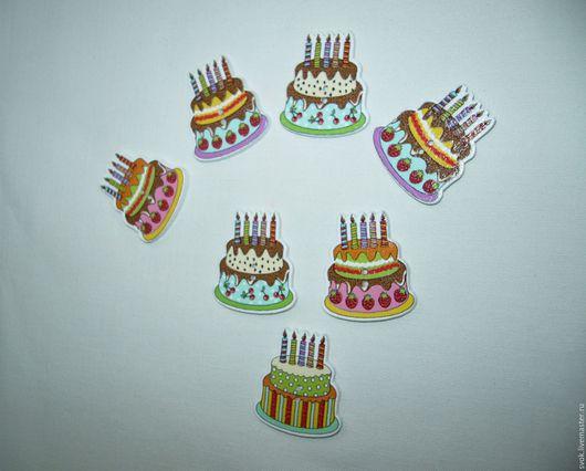 Шитье ручной работы. Ярмарка Мастеров - ручная работа. Купить Пуговицы деревянные, тортики, разноцветные. Handmade. Цветные пуговицы, пуговицы
