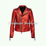 Одежда handmade. Livemaster - original item Luxurious jacket in genuine Python leather