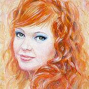Картины и панно ручной работы. Ярмарка Мастеров - ручная работа портрет девушки маслом. Handmade.