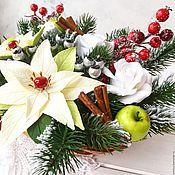 """Подарки к праздникам ручной работы. Ярмарка Мастеров - ручная работа """"Зимняя сказка-2"""" рождественская композиция. Handmade."""