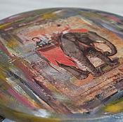"""Для дома и интерьера ручной работы. Ярмарка Мастеров - ручная работа Табуретка (табурет, стул) """"Индийский слон"""". Handmade."""