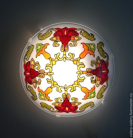 """Освещение ручной работы. Ярмарка Мастеров - ручная работа. Купить Бра """"Красный цветок"""". Handmade. Светильник, дизайнерский светильник"""