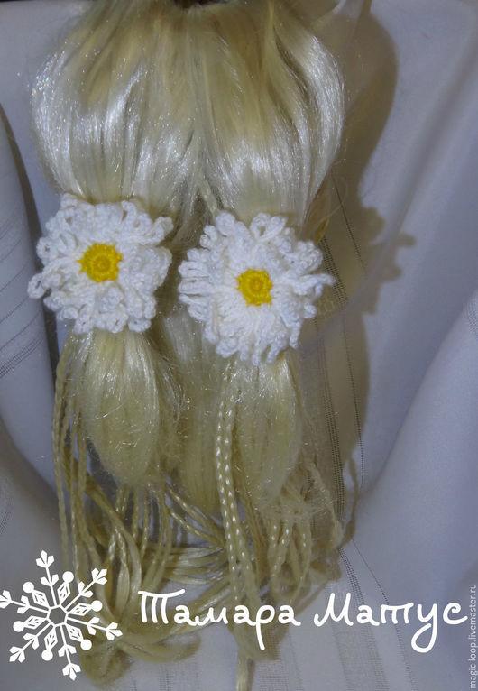 Резинки для волос `Ромащки` ручной работы. Мамара Матус. Ярмарка Мастеров