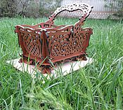 """Для дома и интерьера handmade. Livemaster - original item Basket-vase """"Elegance"""". Handmade."""