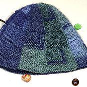 handmade. Livemaster - original item Knitted double winter hat-cap pumpkin hat. Handmade.