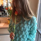 Одежда handmade. Livemaster - original item Lightweight sweater turquoise. Handmade.