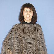 Одежда handmade. Livemaster - original item 127 poncho knitted fur, clothing. Handmade.