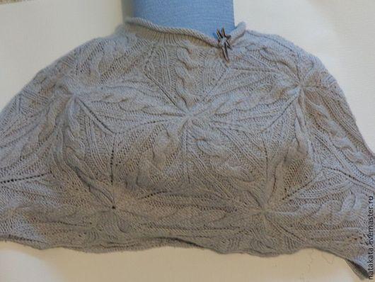 Болеро, шраг ручной работы. Ярмарка Мастеров - ручная работа. Купить Болеро вязаное косами. Handmade. Болеро, большой размер, кофточка
