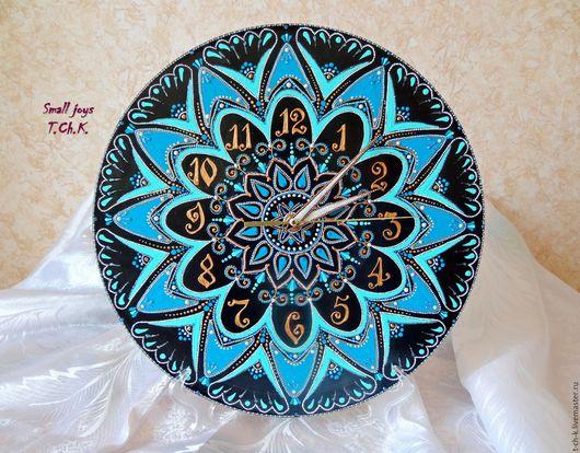 """Часы для дома ручной работы. Ярмарка Мастеров - ручная работа. Купить Настенные часы """"В гостях у Тиффани"""". Handmade."""