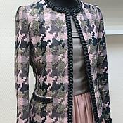"""Одежда ручной работы. Ярмарка Мастеров - ручная работа Жакет в крупную """"гусиную лапку"""". Handmade."""