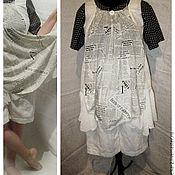 Одежда ручной работы. Ярмарка Мастеров - ручная работа Платье  туника из льна   большой размер. Handmade.