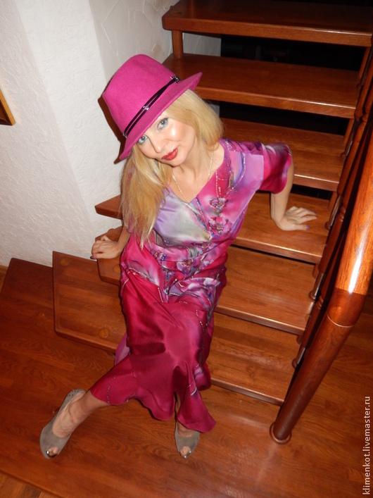 Платья ручной работы. Ярмарка Мастеров - ручная работа. Купить платье Прекрасное. Handmade. Фуксия, женская одежда, натуральный шелк