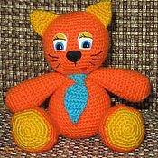 Мягкие игрушки ручной работы. Ярмарка Мастеров - ручная работа Котик в галстуке. Handmade.