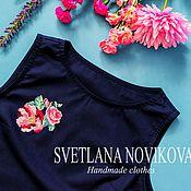 Одежда ручной работы. Ярмарка Мастеров - ручная работа Блузка с вышивкой. Handmade.