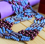 Украшения handmade. Livemaster - original item Beaded multi-row beads. Handmade.