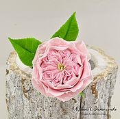Украшения ручной работы. Ярмарка Мастеров - ручная работа Шпилька с нежной, пионовидной розой  из полимерной глины. Handmade.