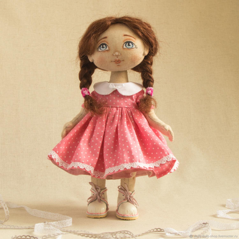 Авторская текстильная кукла ручной работы, Тыквоголовка, Москва,  Фото №1